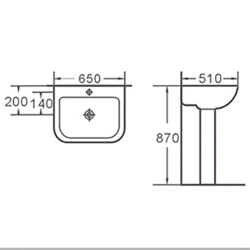 competetive price pedestal wash basin classical free design for municipal building