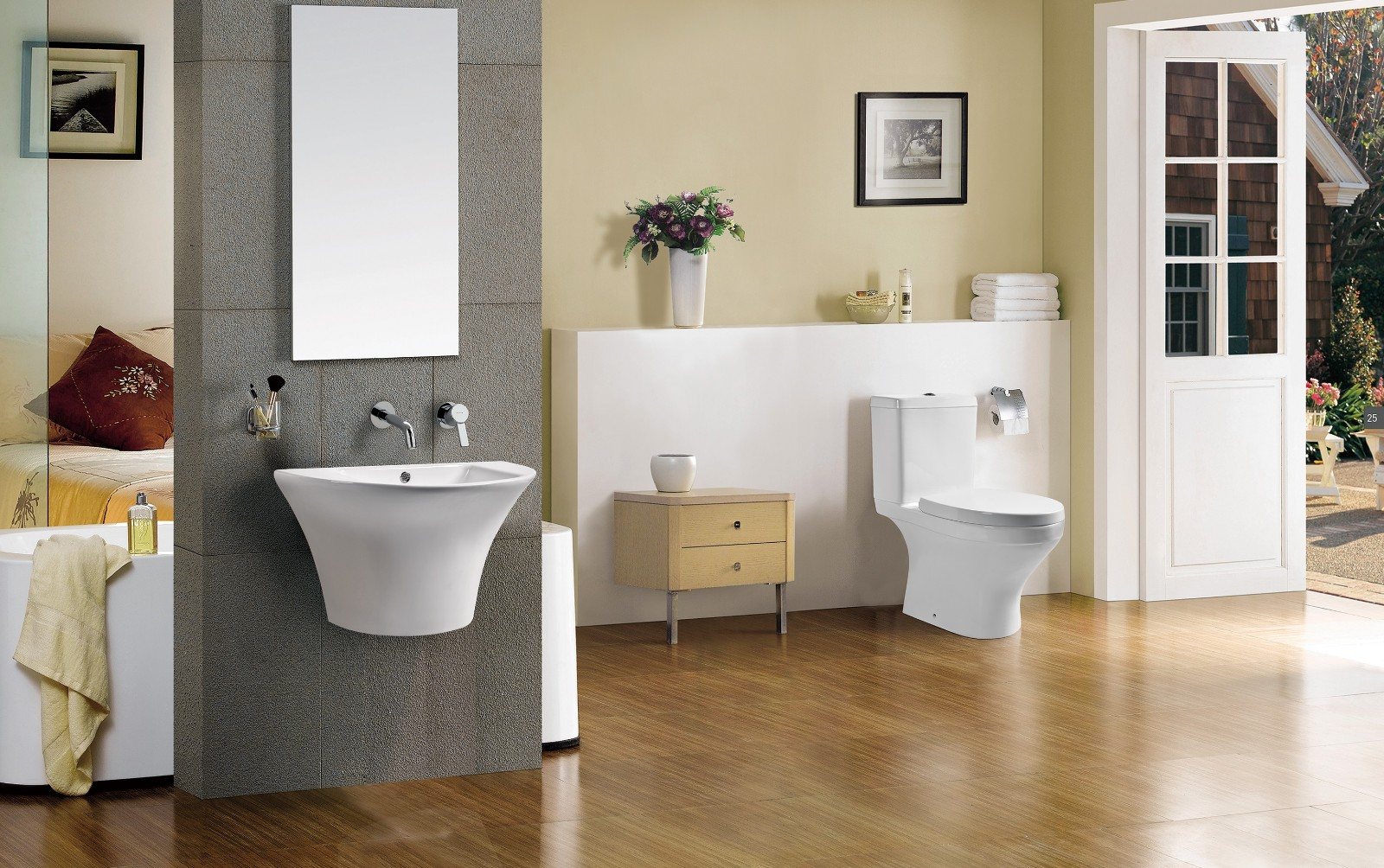 fashionable two piece toilet design factory price for residential building-5