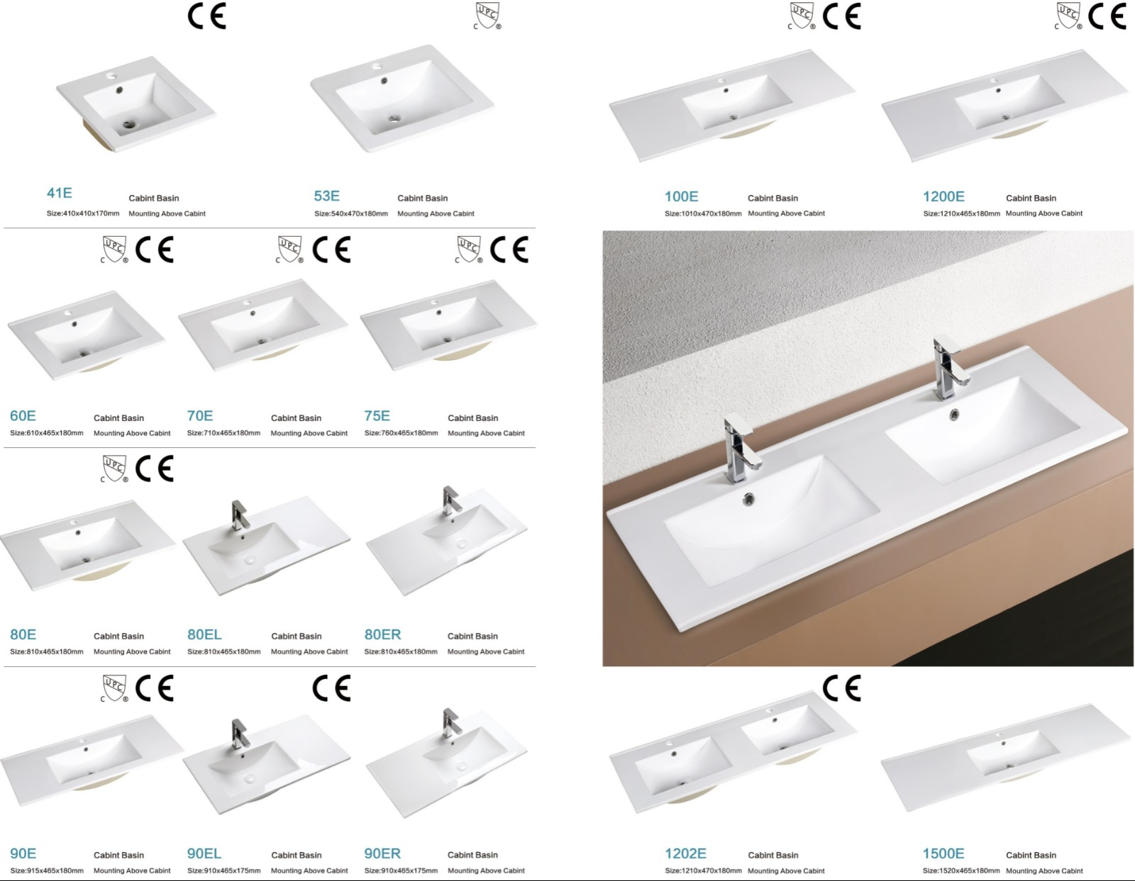 KEDIBO unique design wash basin with cabinet shop now for office building-6