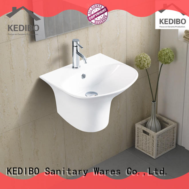 slim wall mounted basin factory price for commercial apartment