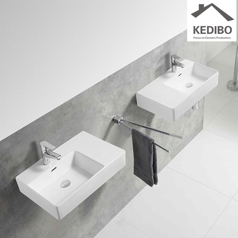600x420 KEDIBO New Wall Hung Luxury Porcelain Wash Basin (CS-5040L)-1