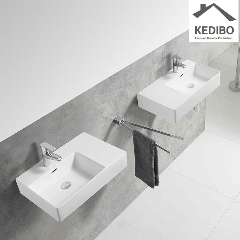 600x420 Right Side Bowl Wall Hung Porcelain Wash Basin (CS-5040R)