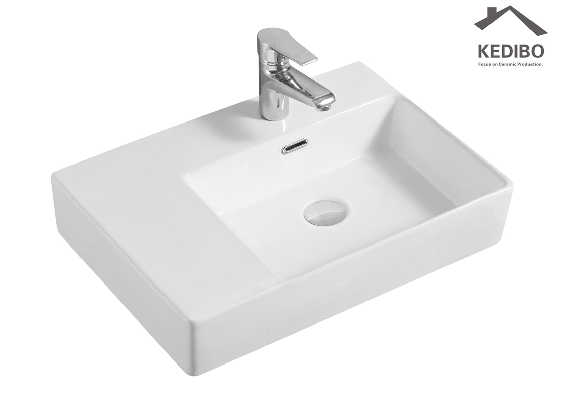 KEDIBO widely used ceramic wall hung basin overseas market for commercial apartment-2