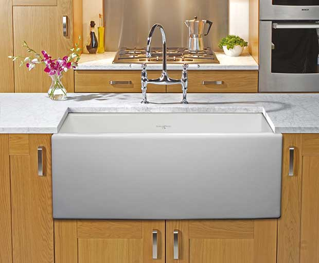 New Product China Factory Double Bowl Ceramic Kitchen Sink (KS-01D)-4