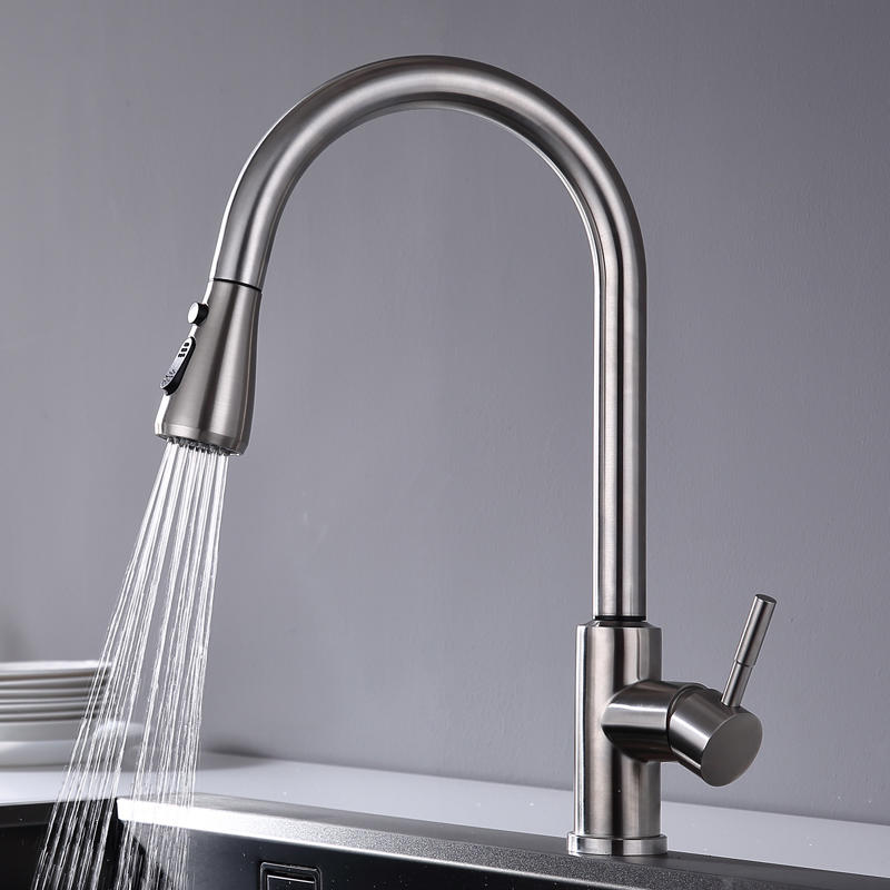 Sanitary Ware New Function Touch Control Pull-Down Kitchen Faucet (M0800-TT)