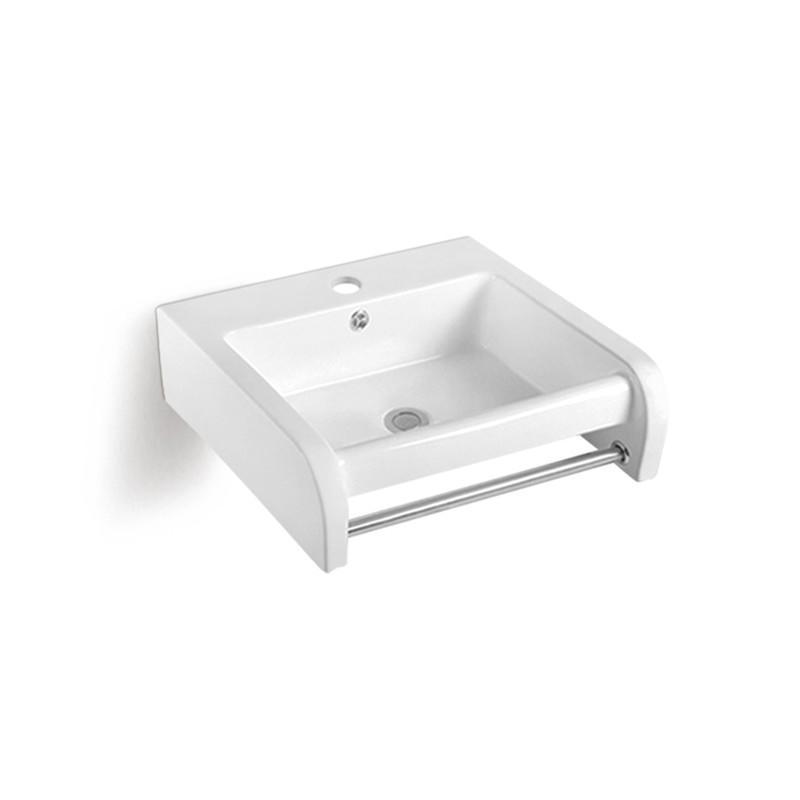 Outdoor Bathroom Use  Wall Hung Ceramic Basin With Towel Bar(838)
