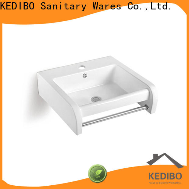 KEDIBO overflow ceramic wall hung basin wholesale for bathroom