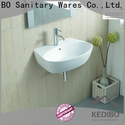 KEDIBO side ceramic wall hung basin supplier for bathroom
