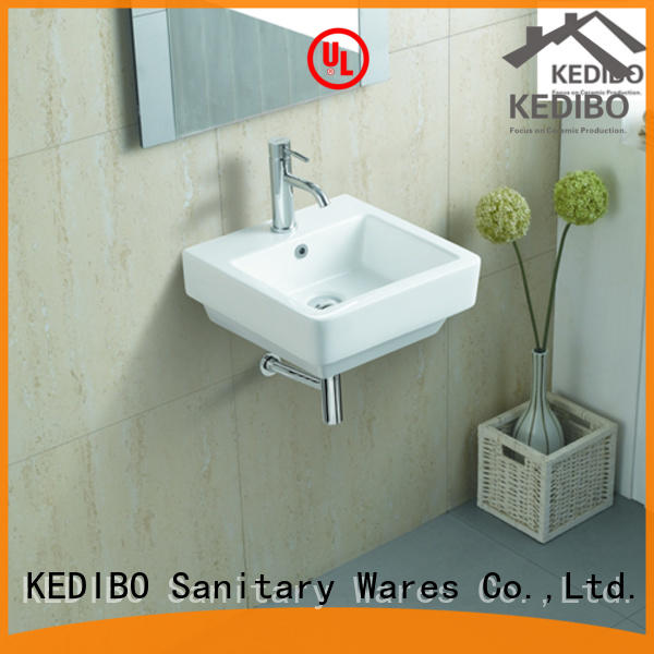 KEDIBO widely used wall mount bathroom sink special for official bathroom