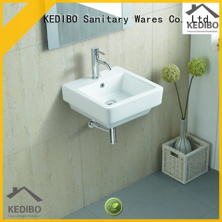 KEDIBO easy-to-install wall hung basin dropshipping for indoor bathroom
