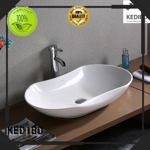 unique design oval wash basin size china factory for super market KEDIBO