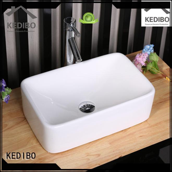 hole Custom gold art basin porcelain KEDIBO
