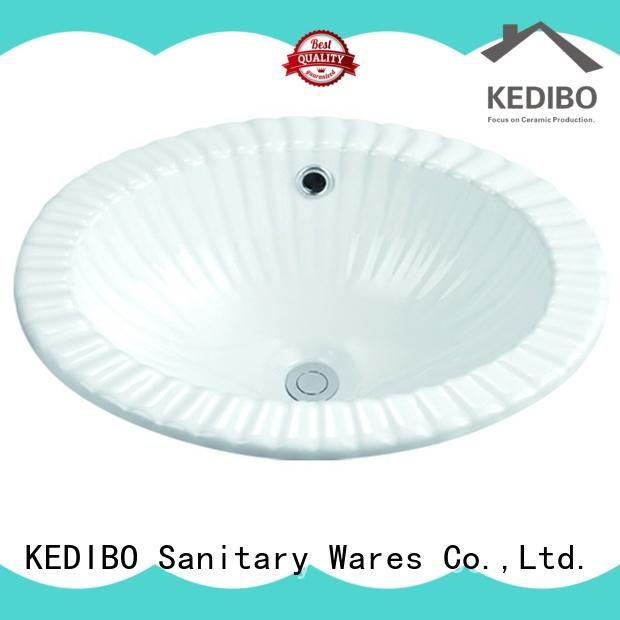 KEDIBO oval under counter basin at discount for mobile toilet
