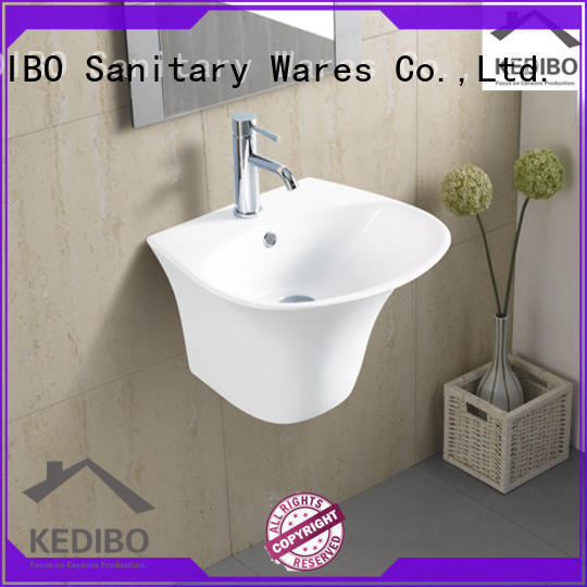 KEDIBO useful wall hung basin supplier for commercial hotel