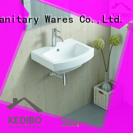 KEDIBO hole wall hung basin bulk production for indoor bathroom