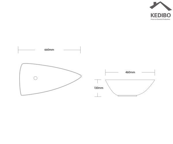 KEDIBO various design unique bathroom sinks exporter for shopping mall-1