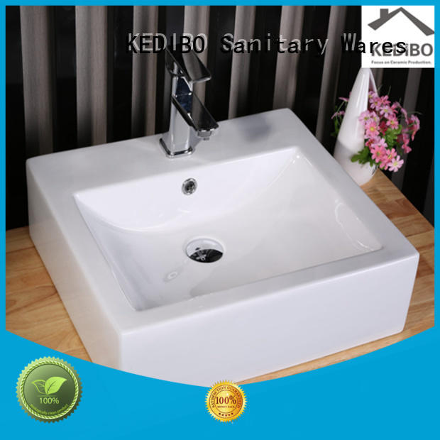 round edge certification toilet wash basin design KEDIBO manufacture