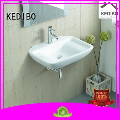 oval glossy square KEDIBO Brand wall hung wash basin manufacture