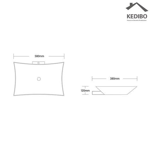 KEDIBO various design porcelain basin OEM ODM for hotel-1