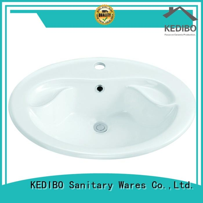 KEDIBO hot-sale square undermount bathroom sink above for shopping mall
