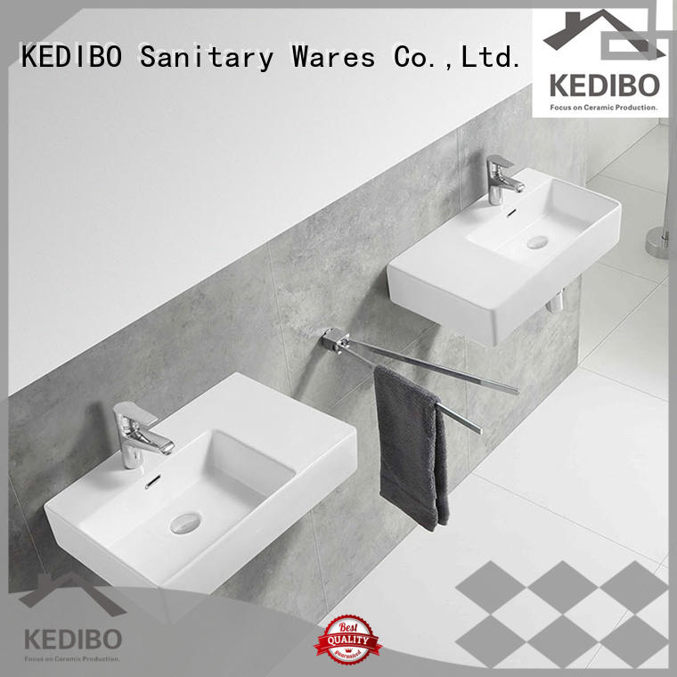 KEDIBO outdoor ceramic wall hung basin wholesale for public washroom