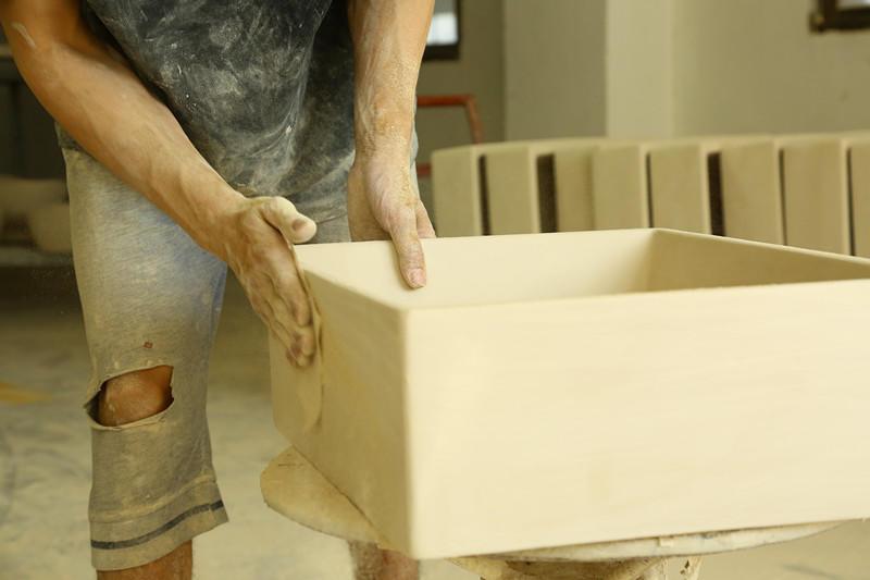 custom art basin exporter for shopping mall-3