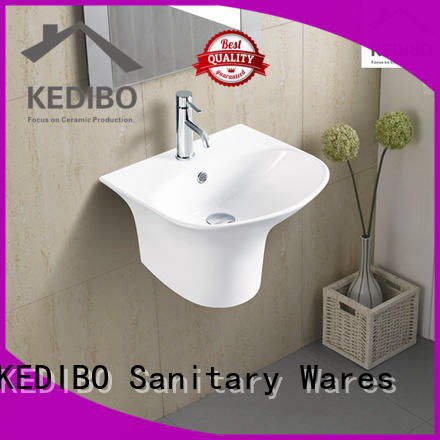 glossy ceramic simple OEM wall hung basin KEDIBO
