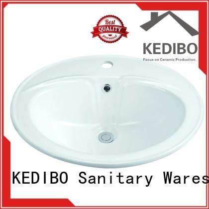 KEDIBO pratical oval undermount bathroom sink dropshipping for mobile toilet