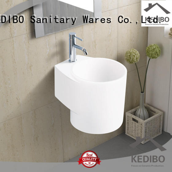 widely used ceramic wall hung basin side bulk production for commercial hotel