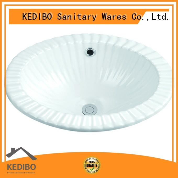 KEDIBO square oval undermount bathroom sink producer for apartment