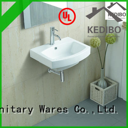 KEDIBO overflow wall hung basin shop for commercial apartment