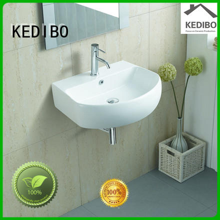 oval Custom glossy square wall hung basin KEDIBO elegant