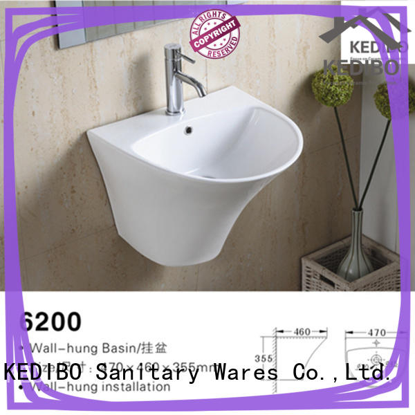 KEDIBO easy-to-install ceramic wall hung basin get now for washroom
