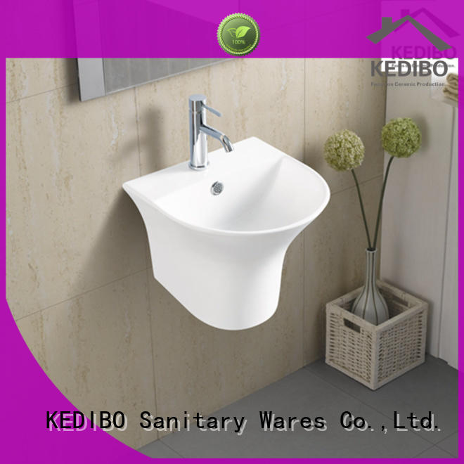 basin wall mount bathroom sink hole for commercial apartment KEDIBO