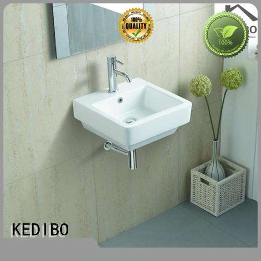oval resistant OEM wall hung basin KEDIBO