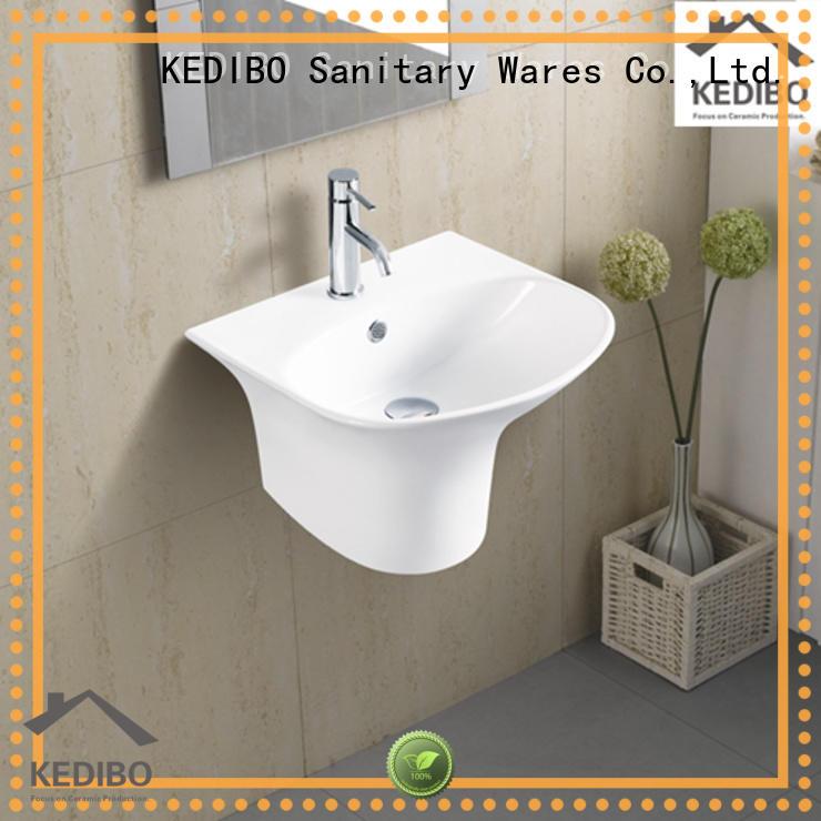 design wall hung basin half for commercial hotel KEDIBO