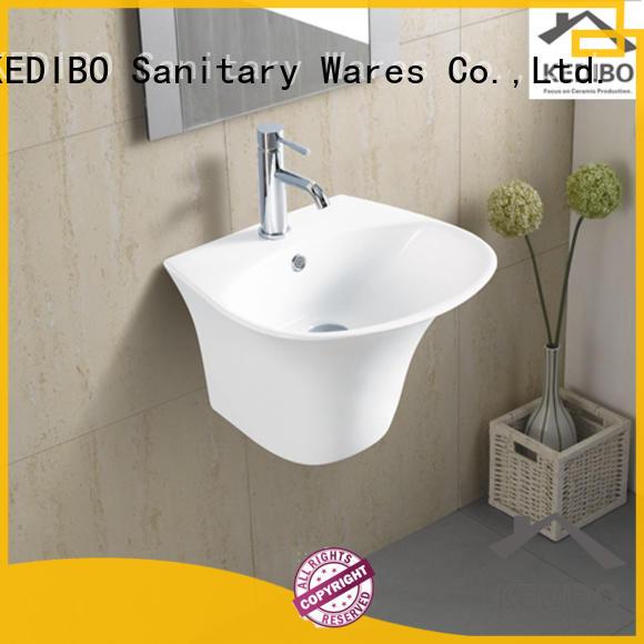 multifunction wall hung basin factory price for washroom KEDIBO