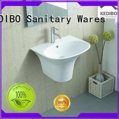 square different glossy KEDIBO Brand wall hung wash basin manufacture