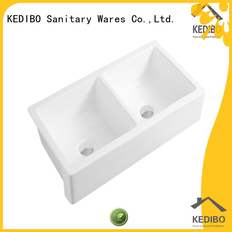 New Product China Factory Double Bowl Ceramic Kitchen Sink (KS-01D)