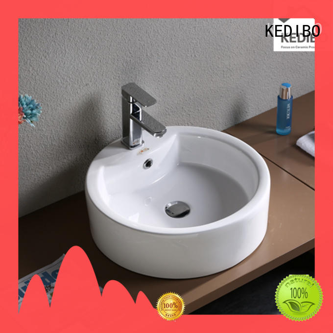 shape trendy wash basin ellipse for residential building KEDIBO