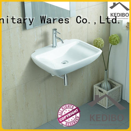 luxury wall hung basin size for public washroom KEDIBO