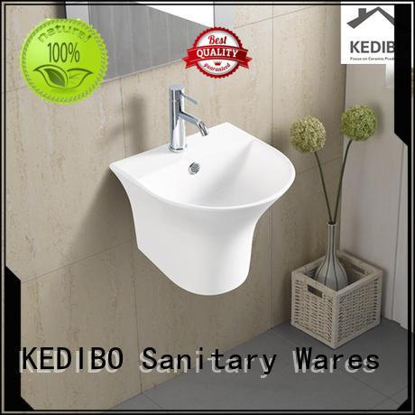 square oval resistant wall hung basin KEDIBO Brand company