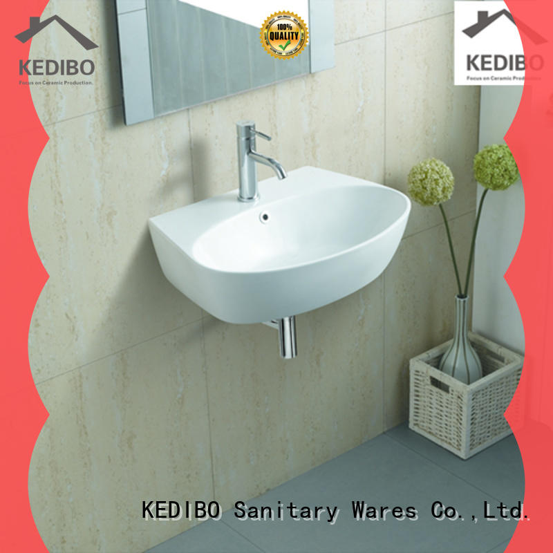 KEDIBO good price wall hung basin supplier for washroom