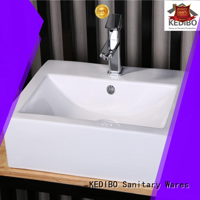 KEDIBO unique design large bathroom sinks square for residential building