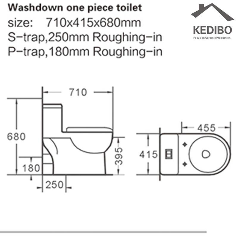 KEDIBO hot-sale wash down toilet model for shopping mall-2