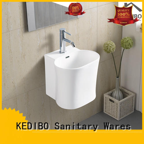 oval simple elegant wall hung basin KEDIBO Brand company
