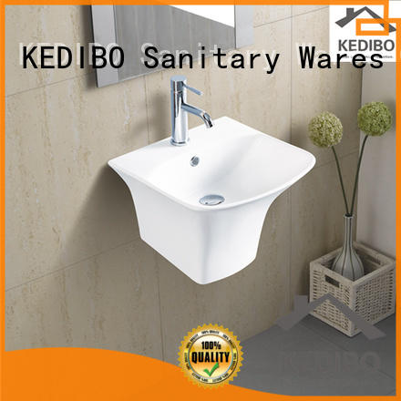wall mount bathroom sink porcelain for indoor bathroom KEDIBO