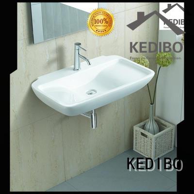 wall hung wash basin ceramic simple oval KEDIBO Brand company