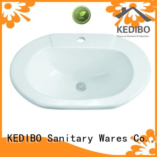 575x425 Bathroom Oval Ceramic Semi Recessed Basin Sink1-2204