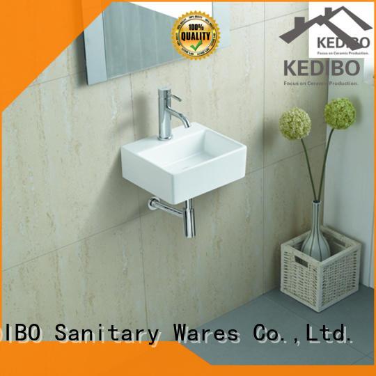 basin wall mounted basin size for commercial apartment KEDIBO